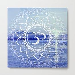 Om Mandala : Blue Waters Metal Print