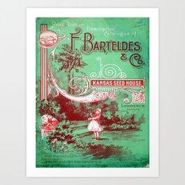 Vintage poster - Kansas Seed House Art Print