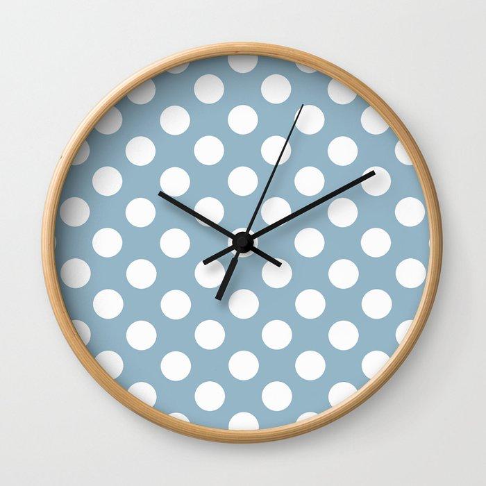 Lunares azul Wall Clock