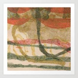 Persimmon garland Art Print
