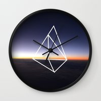 geometry Wall Clocks featuring Geometry by Geometry