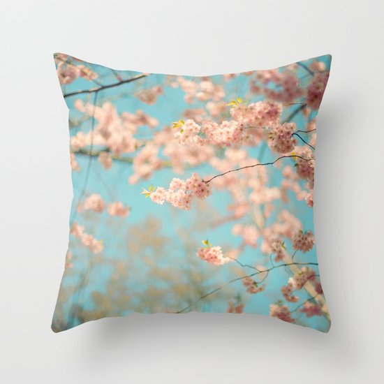 Dance of the Cherry Blossom Throw Pillow