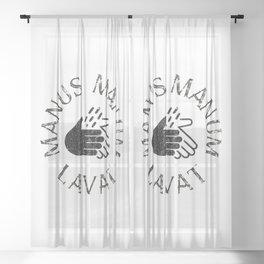 Manus Manum Lavat II - Wash your Hands Sheer Curtain