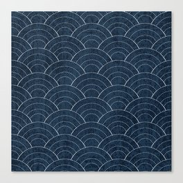 Sashiko Pattern Canvas Print