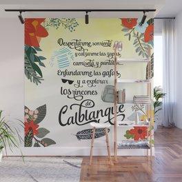 Microaventuras / Calblanque / Fondo Blanco Wall Mural