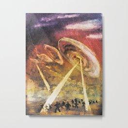ufo Attack Metal Print