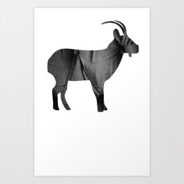 Goat (The Living Things Series) Art Print