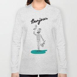 "The Ink - ""Bonjour"" Long Sleeve T-shirt"