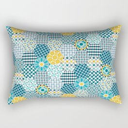 Spanish Tiles of the Alhambra Rectangular Pillow