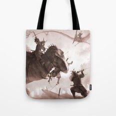 T. rex vs Samurai Tote Bag