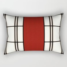 Shoji - red Rectangular Pillow
