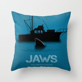 Jaws - Alternative Movie Poster Throw Pillow
