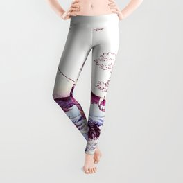 The GREAT Wave : Violet Purple Leggings