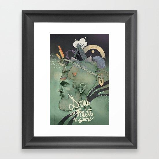 The traveler dreams Framed Art Print