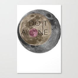Do it alone  Canvas Print