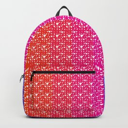 Imperfect Hearts Spectrum Pattern - White/Spectrum2 Backpack