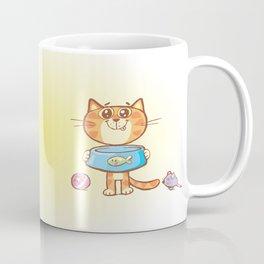 Hungry cat Coffee Mug