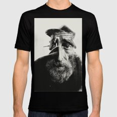 OLD MAN Black LARGE Mens Fitted Tee