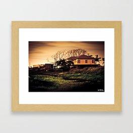 Myrtle Town At Midnight Framed Art Print