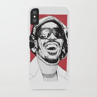 stevie nicks iPhone & iPod Cases featuring Stevie Wonder by Andy Christofi