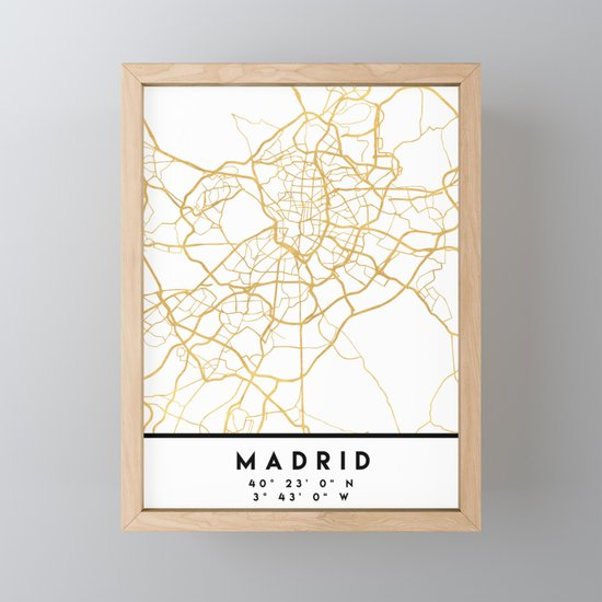 MADRID SPAIN CITY STREET MAP ART by deificusart