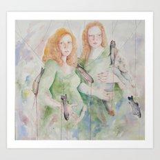 Lot's Daughters  Art Print