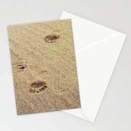 Footprints in the Sand in my Walk on the Beach Stationery Cards