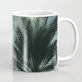 Tiny White 'Angel' Cloud In Sky Above Palms Trees Coffee Mug