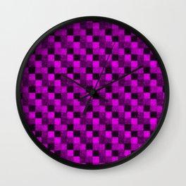 Rustic Purple Patchwork Wall Clock
