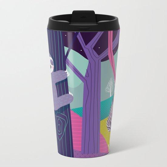 Sloth in the woods Metal Travel Mug