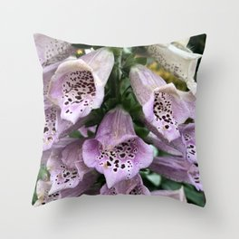 Foxgloves in Frost Throw Pillow