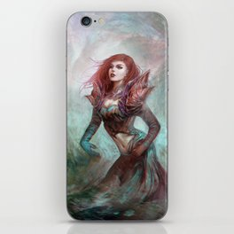 Diamond in the rough - Fantasy magic girl character concept iPhone Skin