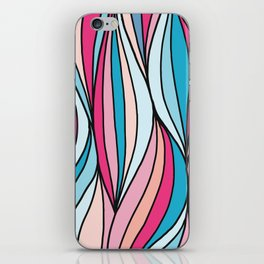 Colored abstract strips iPhone Skin
