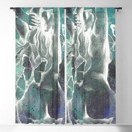 Sugar Coated Sour: Negative (nude curvy pin up with butterflies) Blackout Curtain