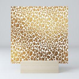 Leopard pattern, faux metallic gold Mini Art Print