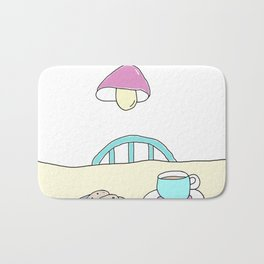 Hot beverage and cookies Bath Mat
