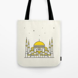 Hagia Sophia icon and vector. City travel landmark, tourist attractions in Istanbul Tote Bag