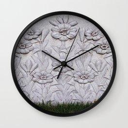 Stone Flowers Wall Clock