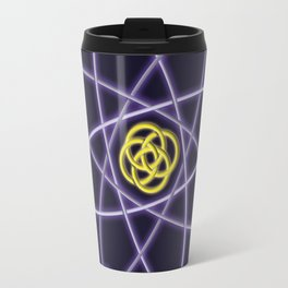 Gold and Silver Atomic Structure Travel Mug