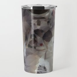 Buzz Aldrin on the Moon in Triangles Travel Mug