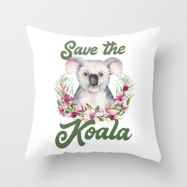 Save the Koala -#3 Throw Pillow