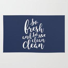 so fresh so clean clean / navy Rug
