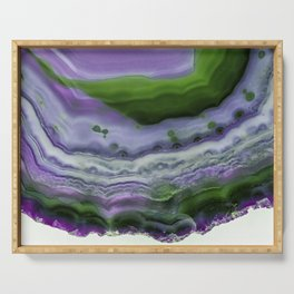 Purple and Green Agate Serving Tray