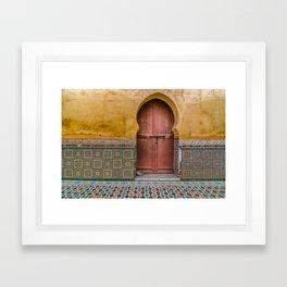 Morrocan Door and Tile Work Framed Art Print