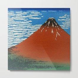 Volcano Illustration Metal Print