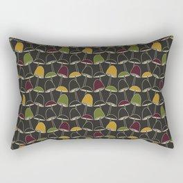 Black Mushrooms Rectangular Pillow