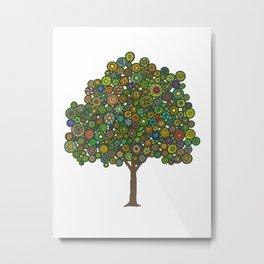 Marble Tree Metal Print