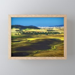 Fruited Plain Photographic Landscape Framed Mini Art Print
