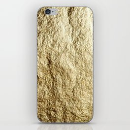 Crinkled Gold iPhone Skin