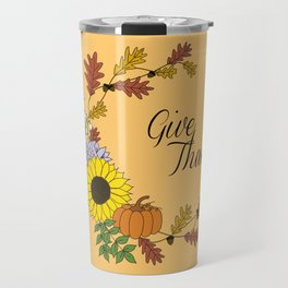 Thanksgiving Wreath Travel Mug